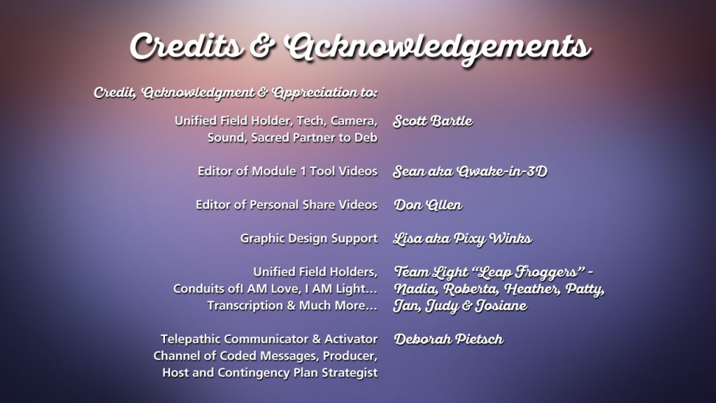 Credits & Acknowledgements