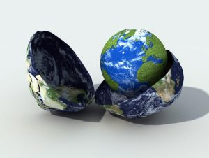 Earth within an earth - birthing egg