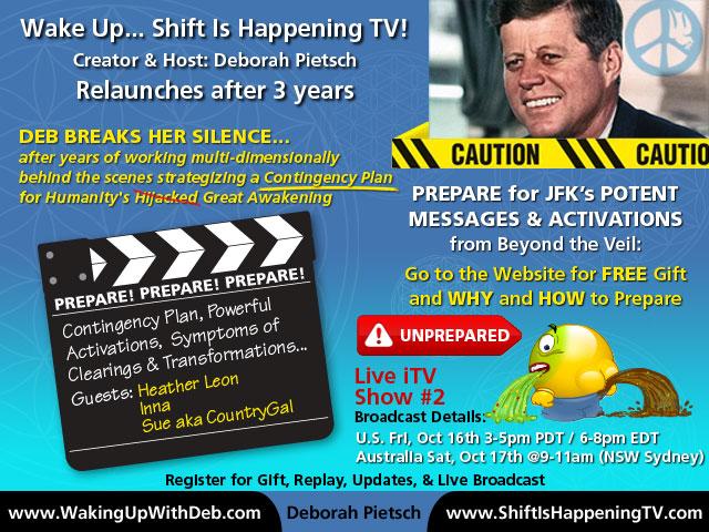 JFK - Prepare for JFK's potent mesages - Deborah Pietsch - pooping spewing emoticon