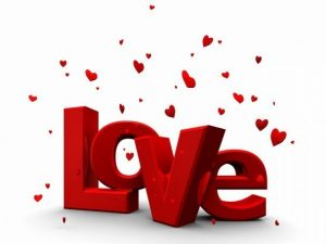 Love - with small hearts
