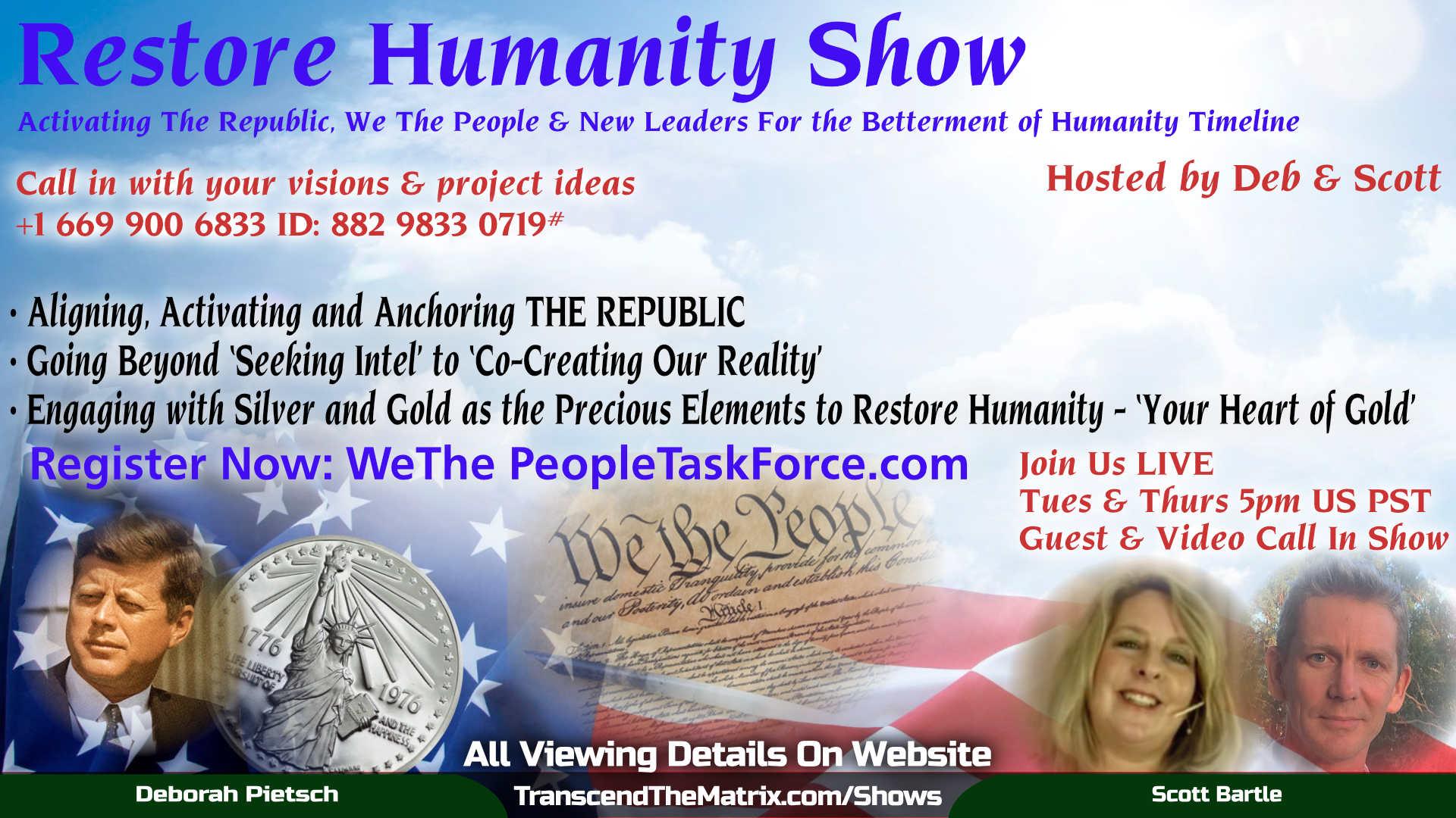 Restore Humanity Show with Deb & Scott